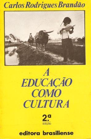 Capa de Livro: A educação como cultura