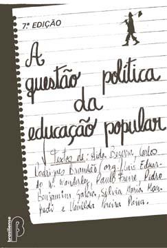Capa de Livro: A questão política da educação popular