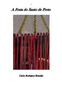 Capa de Livro: A Festa do Santo de Preto